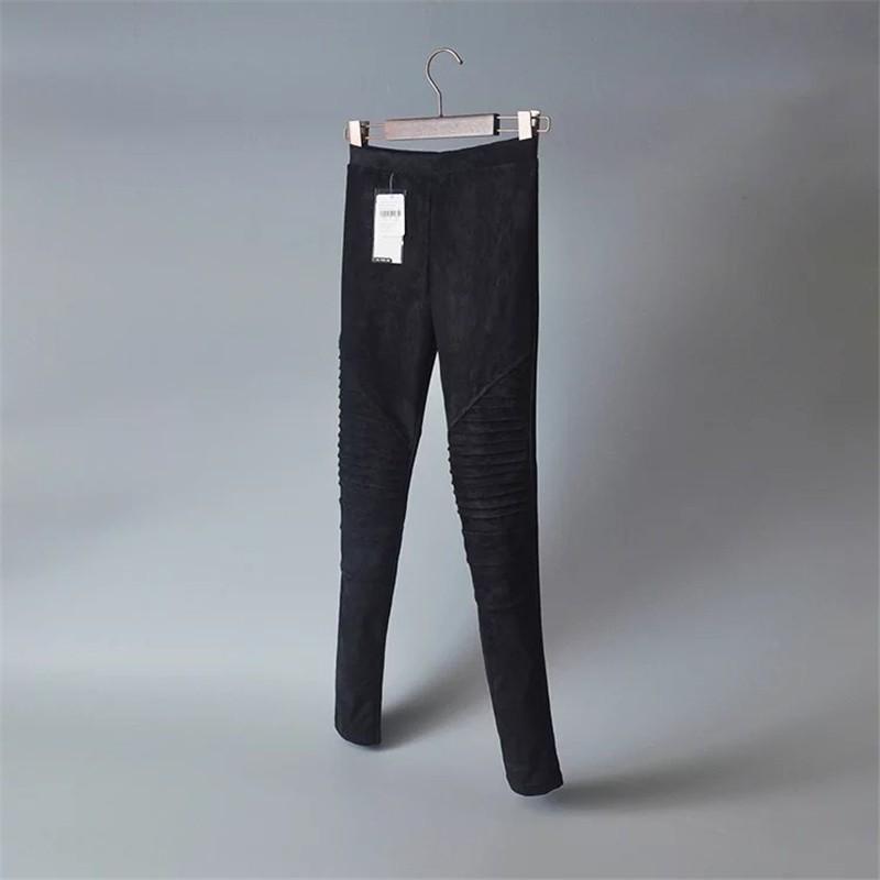 Slim Suede Jeans 8
