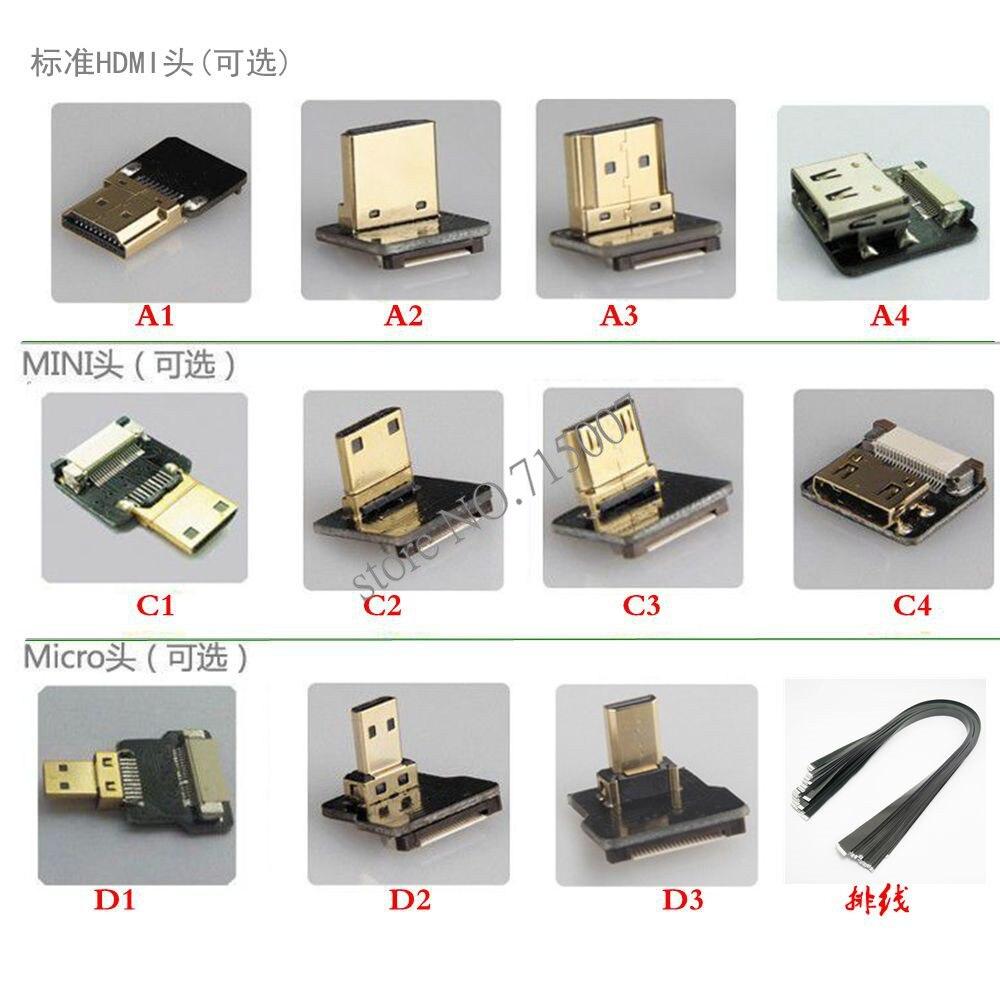 5cm-100cm FPV Mini HDMI-manlig till 90 graders nedåtvinklad - Datorkablar och kontakter - Foto 5