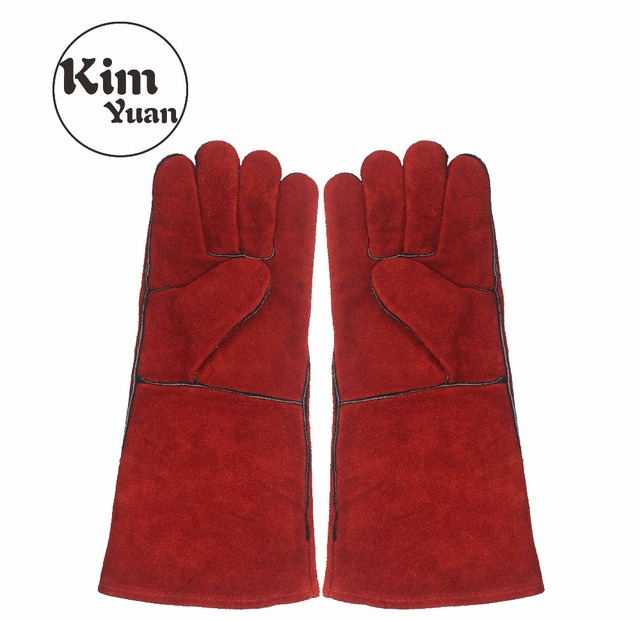 Kim Yuan 014l Leather Welding Gloves Heat Fire Resistant Perfect