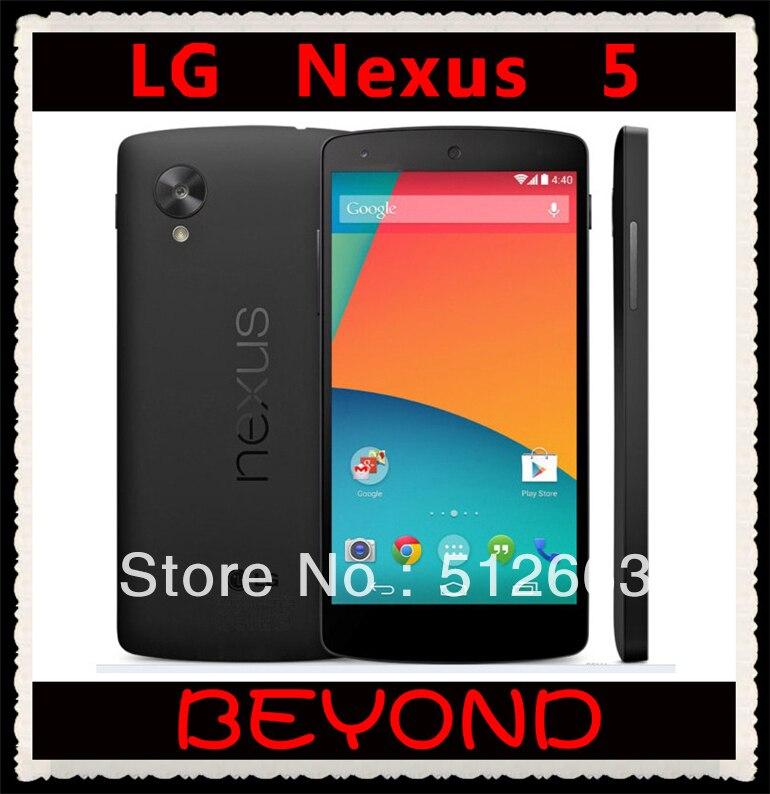 bilder für LG Nexus 5 Original Unlocked GSM 3G & 4G Android WIFI GPS 4,95 ''8MP Quad-core RAM 2 GB D820/D821 16 GB handy Dropshipping