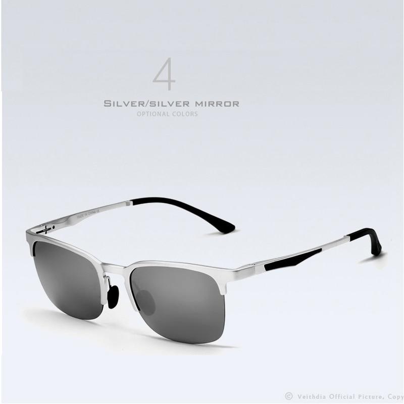 VEITHDIA Unisex Retro Aluminio Magnesio Semi sin montura Gafas de sol - Accesorios para la ropa - foto 3