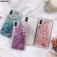 Glitter Fall Für iphone 11 Pro X XR XS MAX Treibsand Flüssigkeit Silikon Soft Cover Für iphone 5 5s SE 6s 6 7 8 Plus Coque Funda