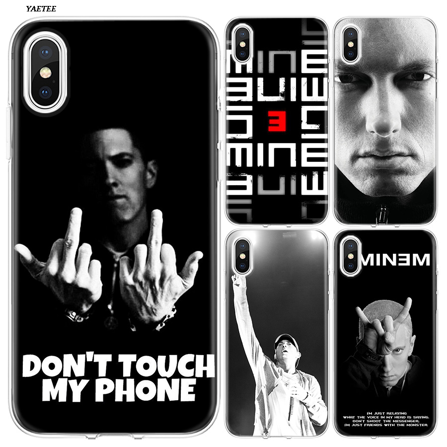 YAETEE Hip Hop Rapper Eminem Rap Silicone Case Cover Hull ...