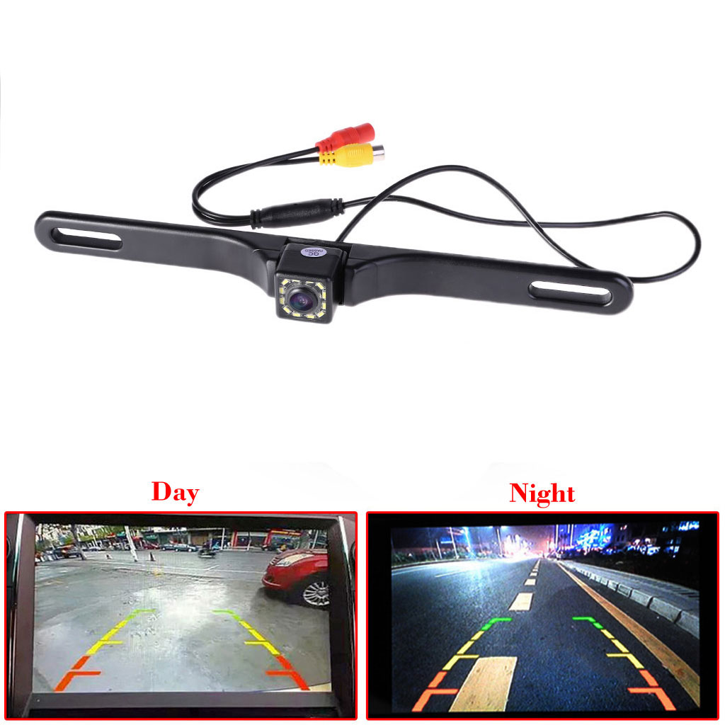 Night Vision 12 IR LED Car Rear View camera License Plate Frame Back Up Camera Car Accessories Pakistan