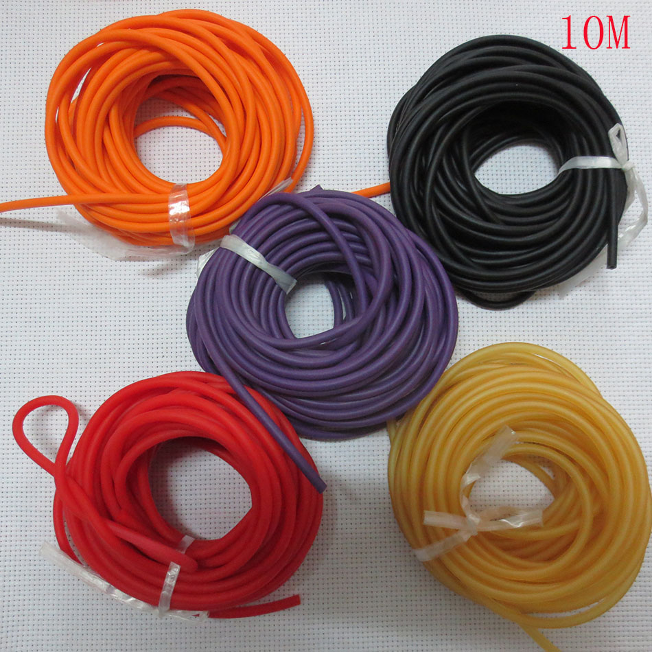 10M 1842 colorful  Natural Latex Replacement Rubber Band Tube for Outdoor Hunting Slingshot Catapult rubber Slingshot sinews 5x10mm 10meter natural latex slingshots rubber tube tubing elastic surgical