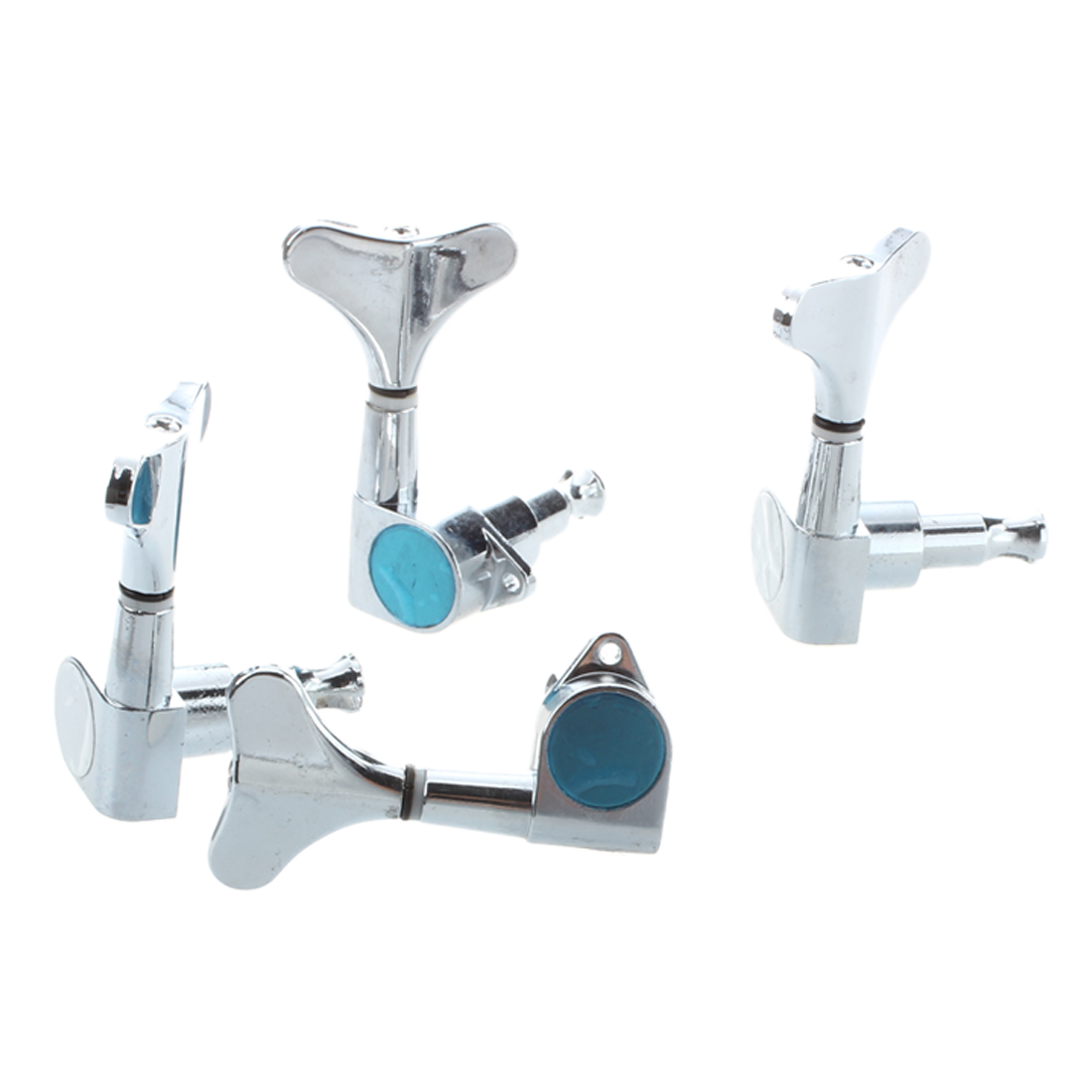 HOT 8X Chrome Sealed Bass Tuning Pegs Tuners Machine Heads 2L + 2R цены
