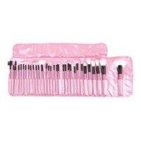32 قطع المرأة الوردي المكياج أدوات pincel maquiagem المهنية متفوقة لينة مجموعة ماكياج فرشاة التجميل مجموعة كيت + الحقيبة حقيبة cas