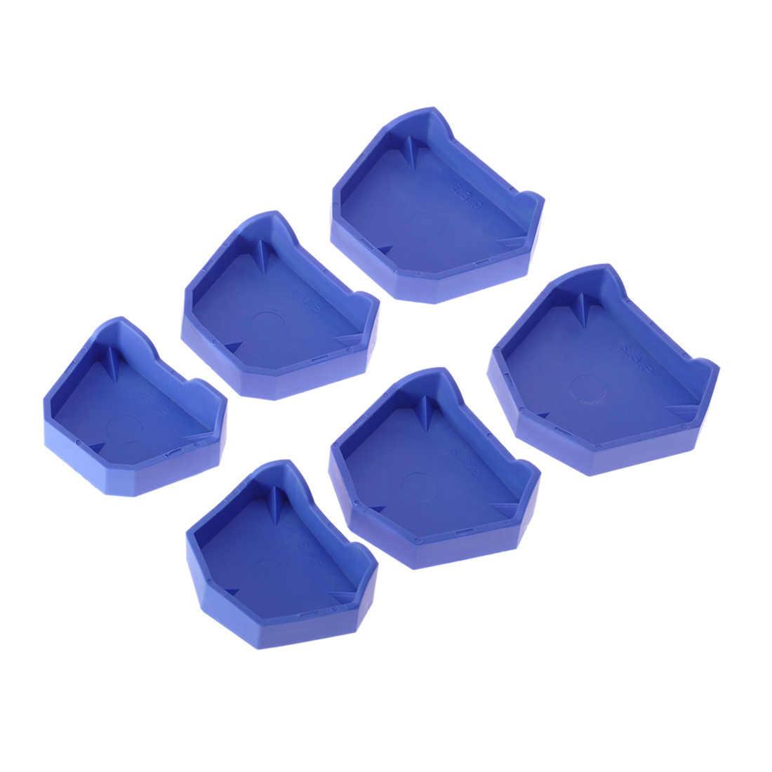 2 sztuk 3 rozmiary model dentystyczny zestaw podstawowy Dental Mold tynk baza proteza taca higiena jamy ustnej pielęgnacja laboratorium dentystyczne były zestaw podstawowy laboratorium dentystyczne