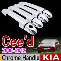 Per KIA Ceed 2006-2012 ED Chrome Maniglia Della Copertura Trim Set Cee d cee 2007 2008 2009 2010 2011 Accessori Adesivi Car Styling