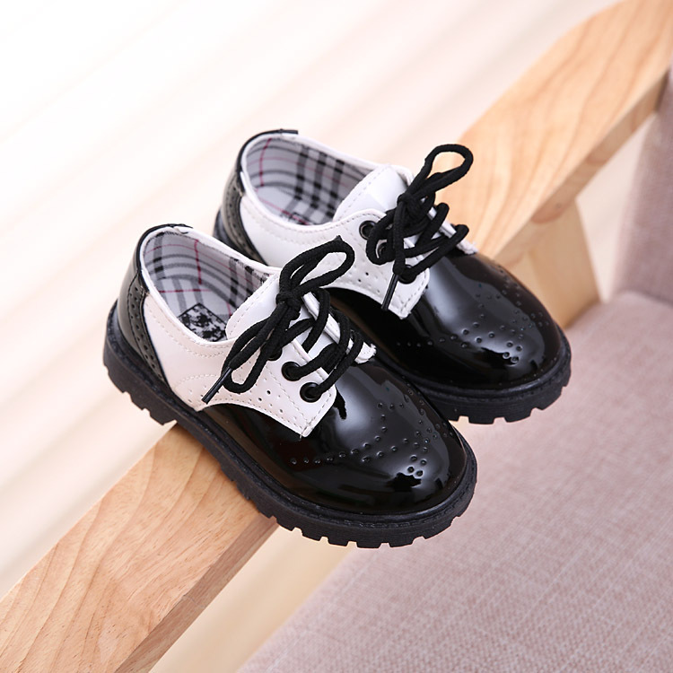 All Seasons British Boys S Leather Shoes Party Wedding For Kids 2017 Autumn New Fashion Hot Children In From Mother