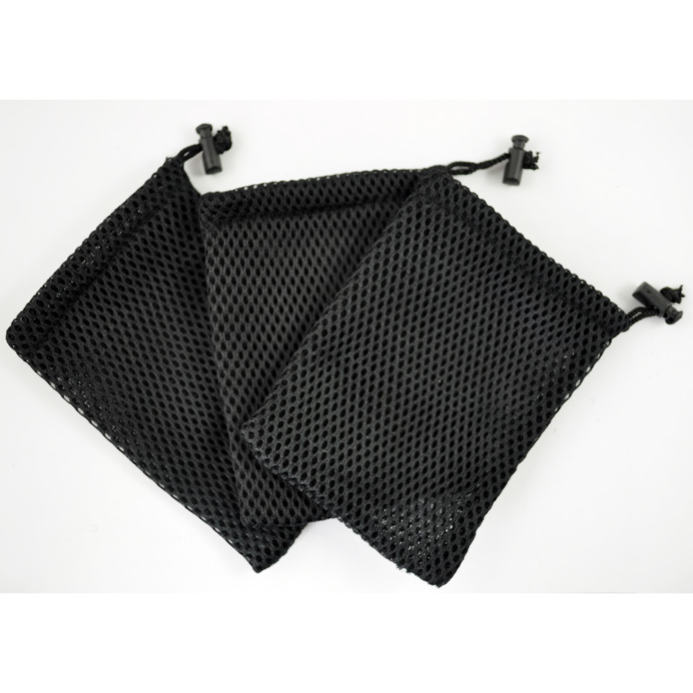 Us 1 12 38 Off Etc Cell Phone Nylon Mesh Drawstring Pouch Bags 3 Pcs Black In Replacement Parts Accessories From Consumer Electronics On