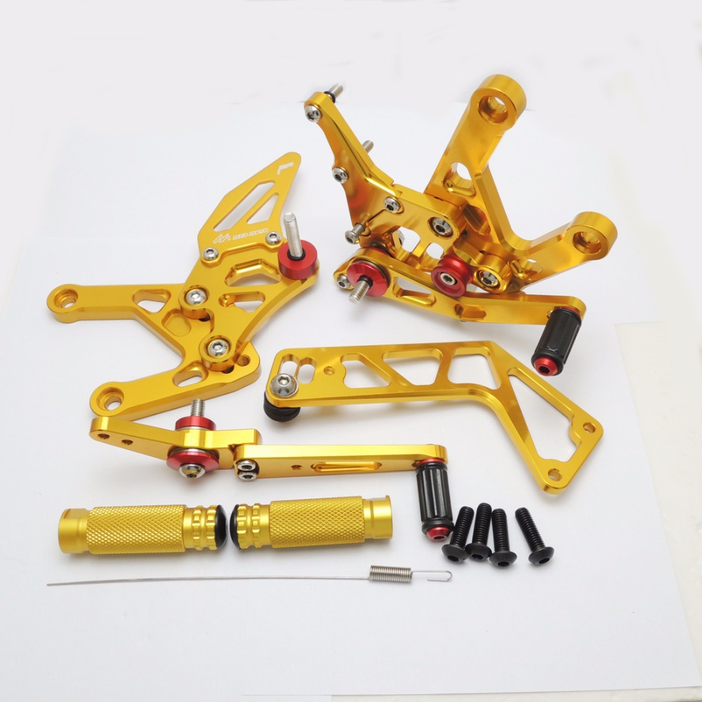 KEMiMOTO YZF R1 2015 2016 Golden Rear Sets For Yamaha YZF-R1 2015 2016 R1 CNC Adjustable Rearsets Foot Rests Pegs 100% Brand New morais r the hundred foot journey