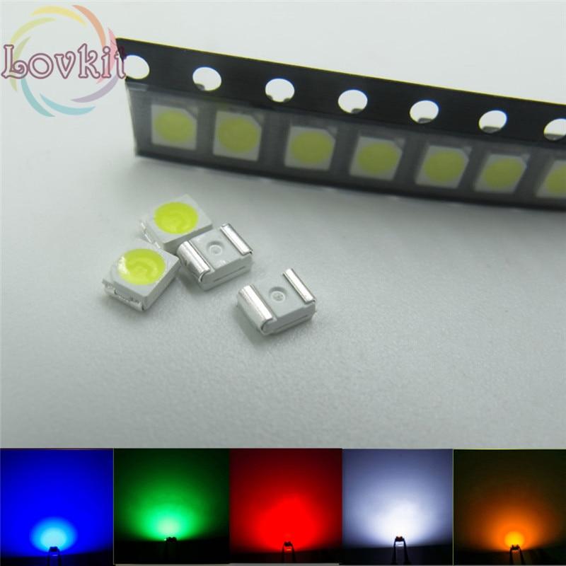 100 pcs SMD SMT 3528 Super bright WHITE LED lamp Bulb GOOD QUALITY