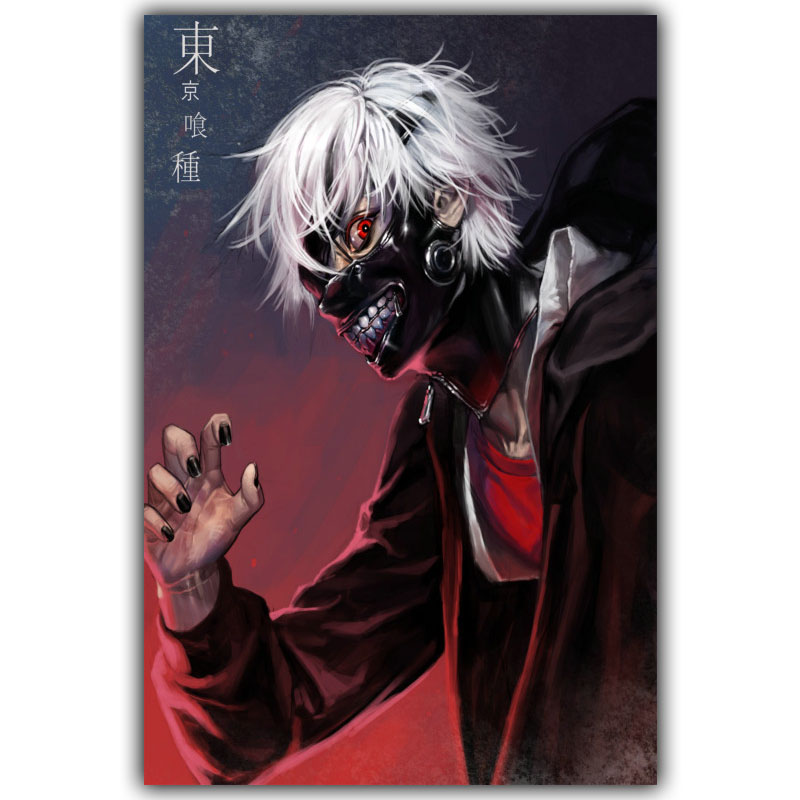 New Tokyo Ghoul Ken Silk Canvas Wall Decoration Poster Boys and Girls Bedroom Decoration Cartoon Wallpaper DM462