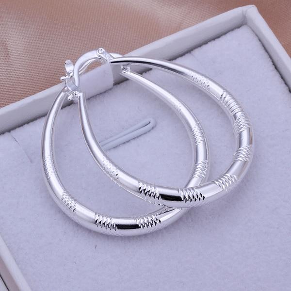 Boyutu: 3.9X3.2 CM 1 Pairs Zarif 925 Takı Gümüş Kaplama Kadın Lady Düğün Küpe Sıcak Satış Yüksek Kalite Moda brinco