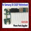 Europa versión 32 gb para samsung galaxy s6 g920f motherboard, abierto original para samsung s6 g920f placa base, envío libre