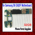 Europe Version 32gb for Samsung Galaxy S6 G920F Motherboard,Original Unlocked for Samsung S6 G920F Mainboard,Free Shipping