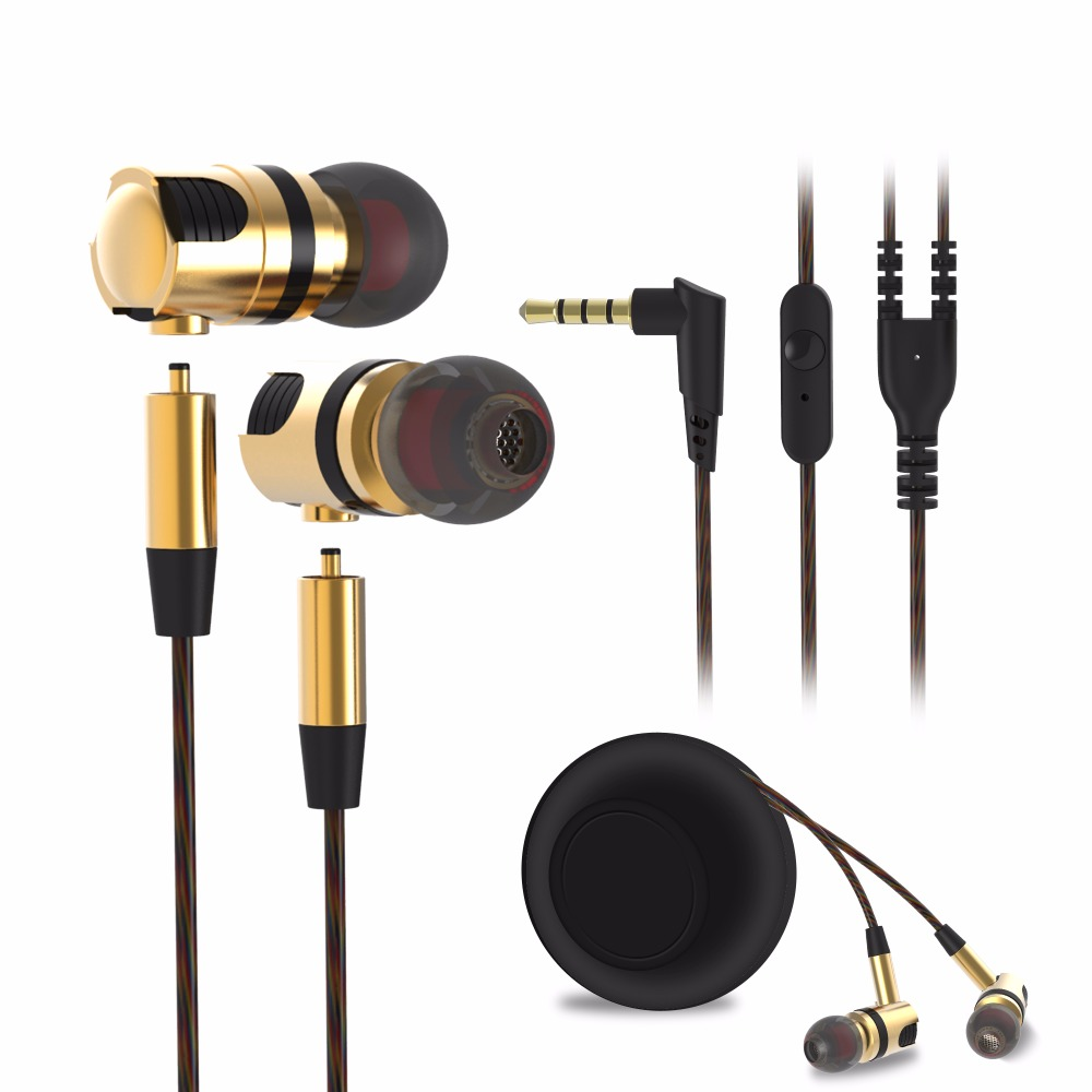 Plextone X46M In-ear Earphone Removable Metal 3.5mm Stereo Bass Earbuds Gaming Headset With Mic For Computer Phone iPhone Sport