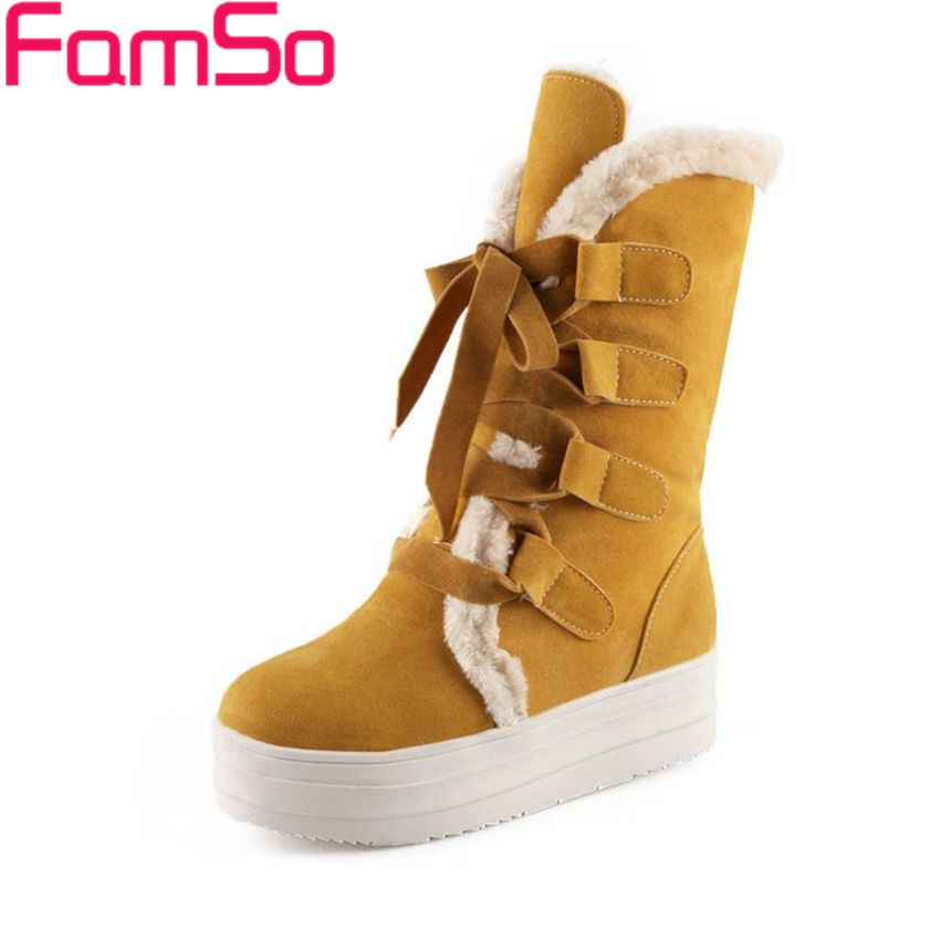 Plus Size34 43 2016 New Shoes font b Women b font Boots Winter Snow Boots 4