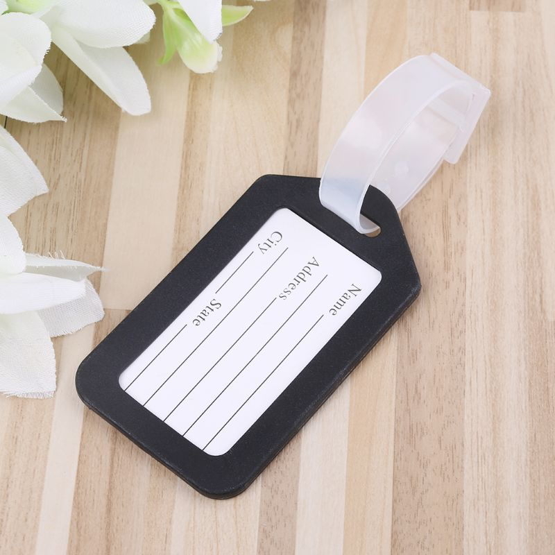 Plastic Travel Luggage Suitcase Baggage Travelbag Address Lable Tags Useful