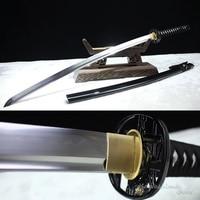 Kawashima Steel Brand Handmade Sword Japanese Katana T10Clay Tempered Steel Metal Craft On Sale