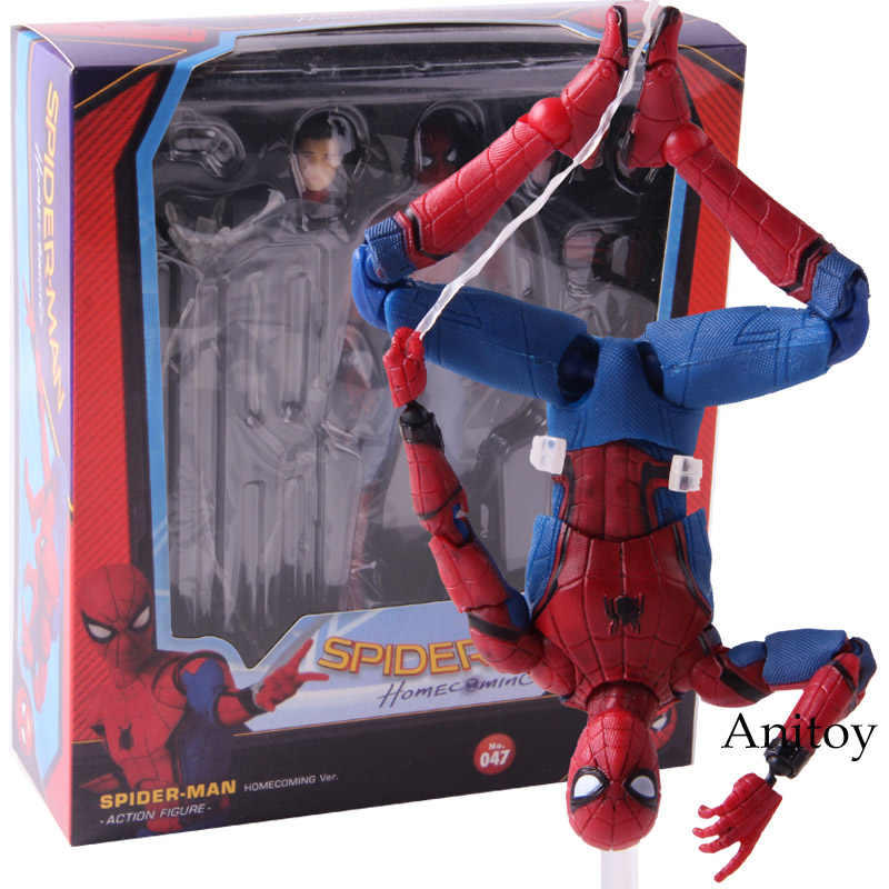 MAF 047 Spider Man Homecoming The Spiderman Tom Holland PVC Action Figure