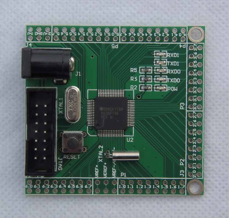 Free Shipping   MSP430F149/5438 Core Plate/learning/development Board/minimum System DIY Game Competition