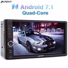 "Pumpkin 2 Din 7"" Android 7.1 Univeral Car Radio No DVD Player GPS Navigation Bluetooth Car Stereo Wifi 3G Fast Boot Headunit"