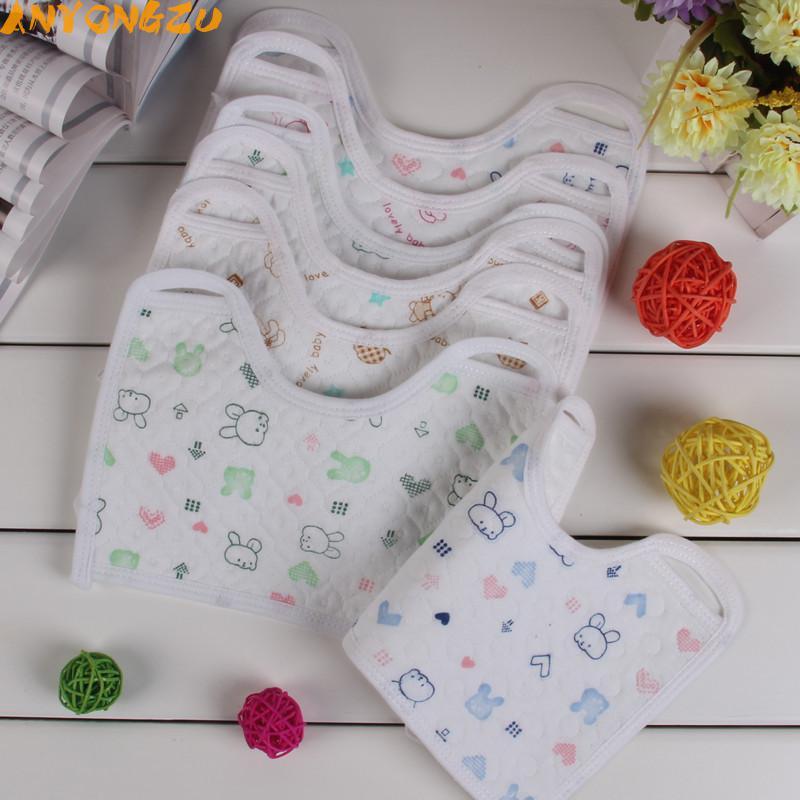 20PCS Anyongzu Unisex Baby Bib Slobber Towel Cotton Waterproof Pocket Meal Newborn Pattern is random