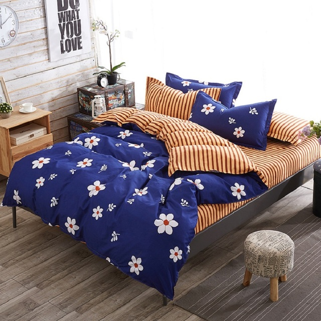 Wliarleo Colourful Bedding Set Flower Geometry Duvet Cover Character Comforter Sets For Home Dormitory