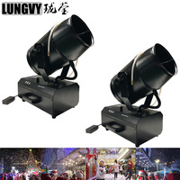 Free Shipping 2pcs/Lot 1800W Moving Head Snow Machine Spray Snow Machine For Wedding Party Dj Party Christmas