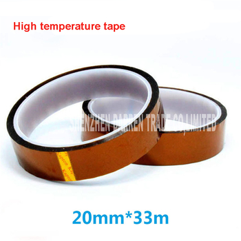 20pcs 20mm * 33 m Tape High Temperature Resistant Polyimide Tape for dedicated 3D Printer ,heating plate, printing platform