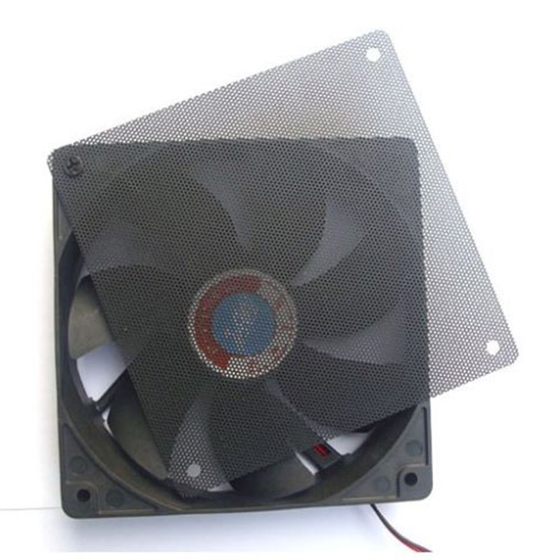 1PC 120x120mm Computer PC Dustproof Cooler Fan Case Cover Dust Filter Cuttable Mesh Fits Standard 120mm Fans + 4 Screws all wet cd