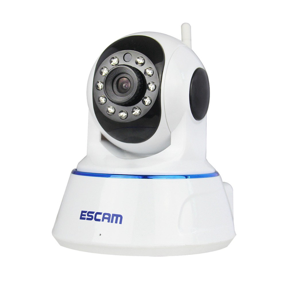 Escam QF002 Mini WiFi IP Camera HD 720P CCTV security Camera System P2P IR Cut Two Way Audio Micro SD Card Slot Night vision easyn a115 hd 720p h 264 cmos infrared mini cam two way audio wireless indoor ip camera with sd card slot ir cut night vision