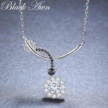 Black Awn романтическое Новое поступление 925 пробы Серебряное ювелирное изделие Трендовое круглое обручальное ожерелье и кулоны для женщин KK027