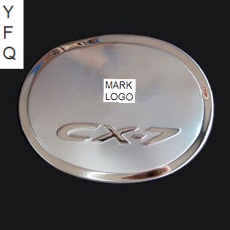 Prix pour Voiture-couvre Haute qualité en acier inoxydable couvercle Du réservoir de Carburant Trim fit pour 2007-2011 Mazda CX-7 Voiture style