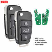 Keyecu 2PCS MQB Semi-intelligente Geändert Schlüssel 315 MHz/433 MHz A6L verwenden für Audi A3 modell