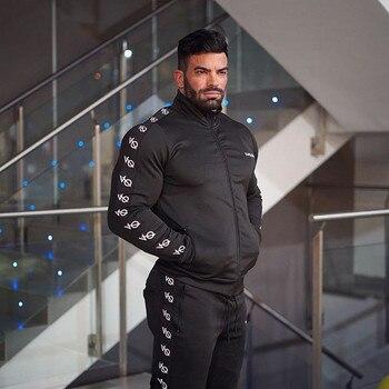 GYMOHYEAH Men's Sets Fashion Sportswear Tracksuits Sets Men's GYMS Hoodies+Pants casual Outwear Suits Chandal Hombre Completo
