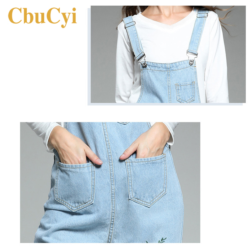 CbuCyi Women Jumpsuits Plus Size 5XL Embroidered Jeans Overalls for Women Long Rompers Loose Casual Straps New Ladies Jumpsuits in Jumpsuits from Women 39 s Clothing