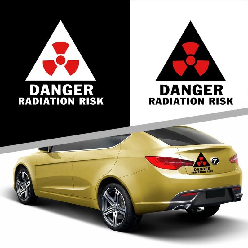 Cool DANGER RAYONNEMENT RISQUE design autocollant de voiture, réfléchissant car styling autocollants et décalcomanies pour nissan/fiat/audi a3/passat b5/kia