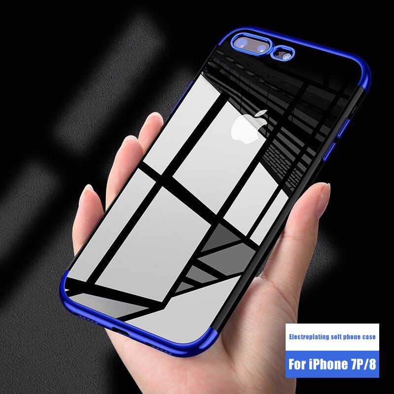 עבור iPhone 7X6 8 מקרה טלפון TPU כיסוי ציפוי ברור גב גבוה מקרים עבור iPhone X 10 8 7 6 S 6 S בתוספת הגנה חכם Conque
