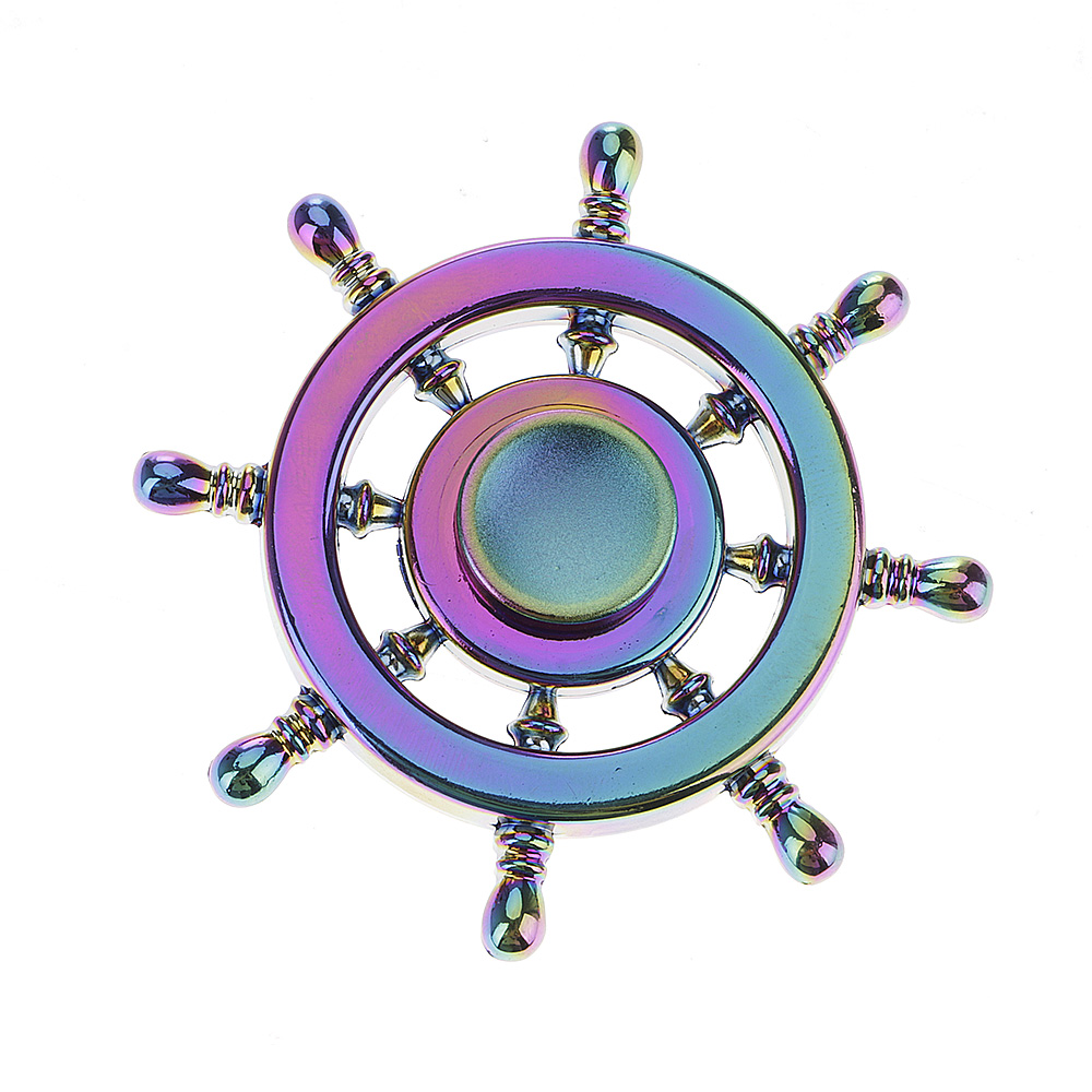 Rainbow Rudder Fidget Hand Finger Spinner EDC Focus Toy Speed Bearing for Kids