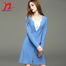Hot Autumn Springtime Women Sweater Coa Knitweart Cardigan Single-Breasted Medium Style V-Neck Hollow Out Slim Braided