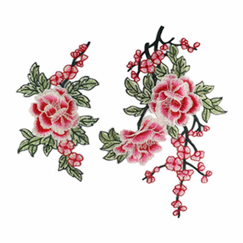 Costura venida cuello de encaje 3D Floral bordado apliques encaje cuello DIY aplicaciones para ropa vestido de novia suministro