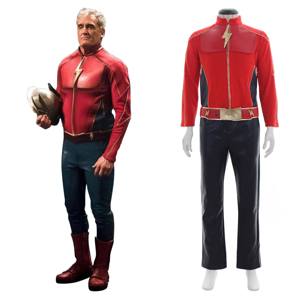 Flash Costume DC Comics The Flash Cosplay Costume Suit Outfit Adult Men's Halloween Carnival Cosplay Costume