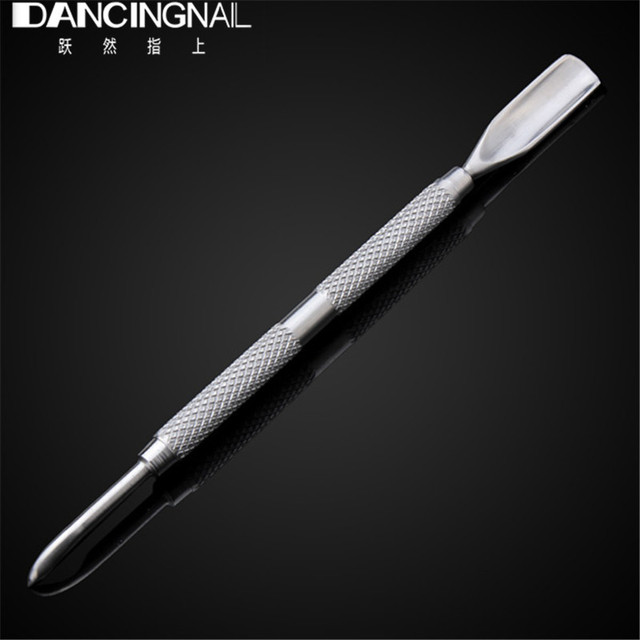 1pcs Stainless Steel Nail Cuticle Pusher Double Head Design Spoon ...