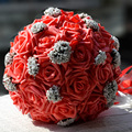 2016 Bridal Bridesmaid Wedding Bouquet Cheap New Arrival White&Purple Handmade Artificial Wedding Flowers Bridal Bouquets D82