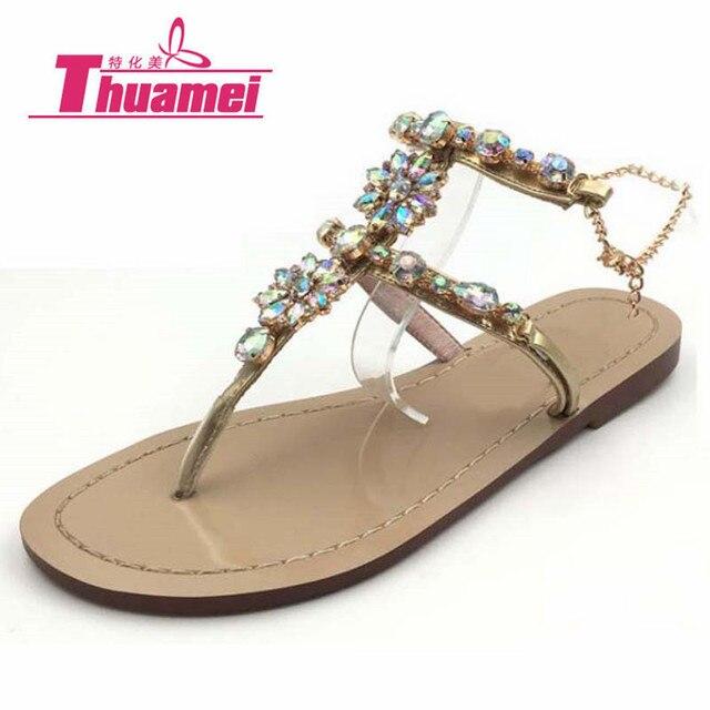 la mode des plats cristal strass, sandales gladiateur gladiateur sandales 9ac4db