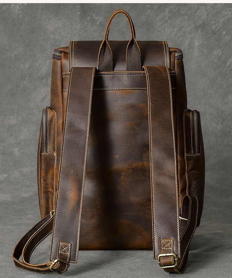 hore luxurious stylish leather backpack