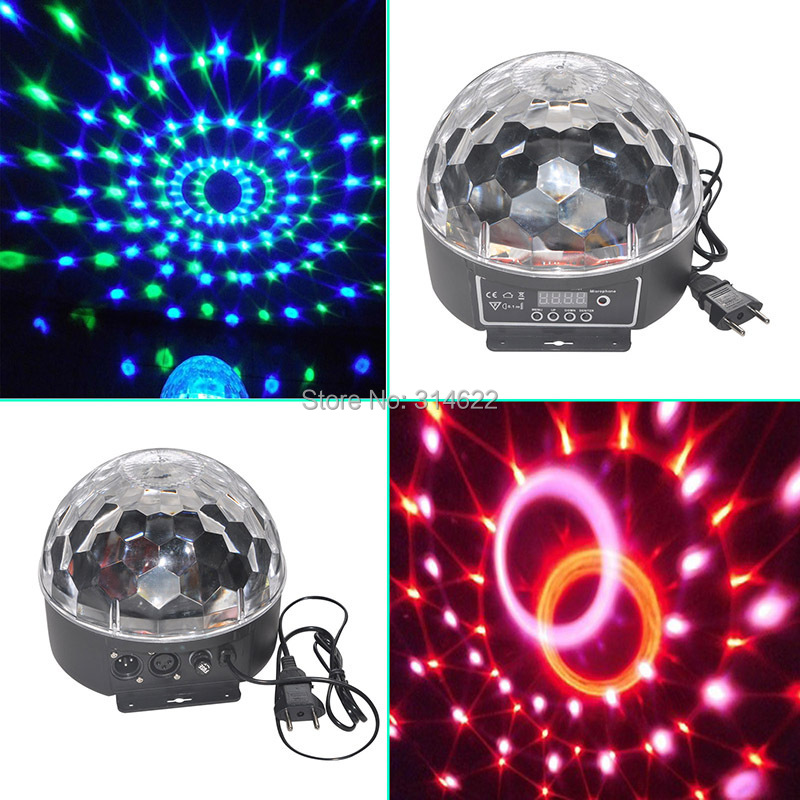 Hot sale for Christmas! DMX512 Disco DJ Stage Lighting Digital LED RGB Crystal Magic Ball Effect Light for Xmas Party  luminaria rg mini 3 lens 24 patterns led laser projector stage lighting effect 3w blue for dj disco party club laser